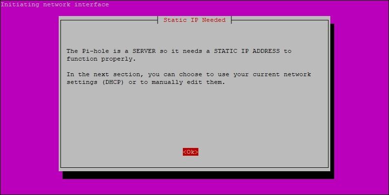 Static IP Notice